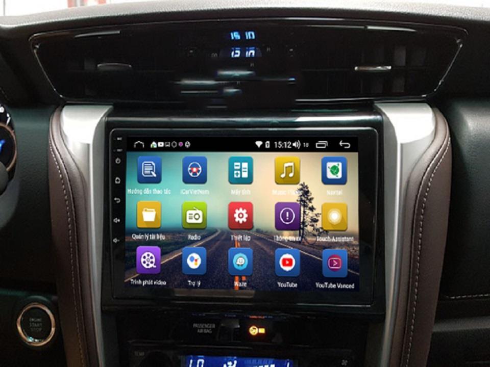 Màn hình Android Sim 4g cho xe Toyota Fotuner 2016-2019